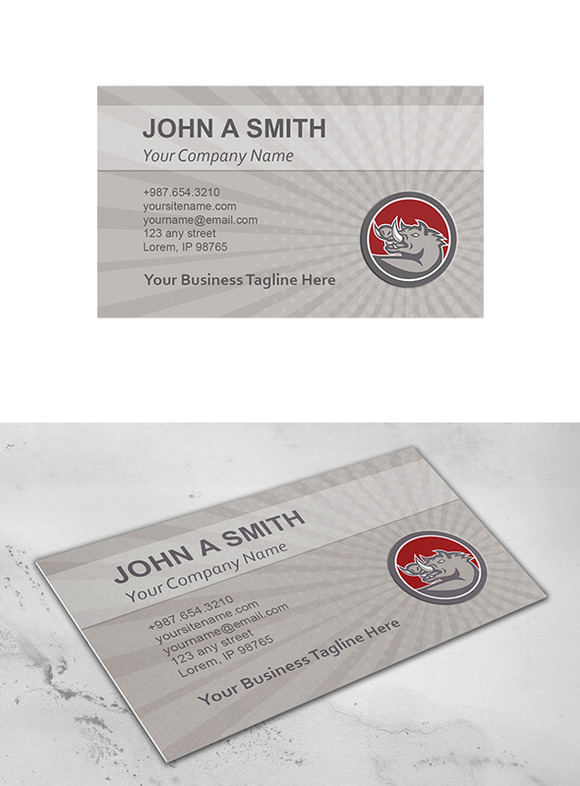 Business Card Template Razorback Hea
