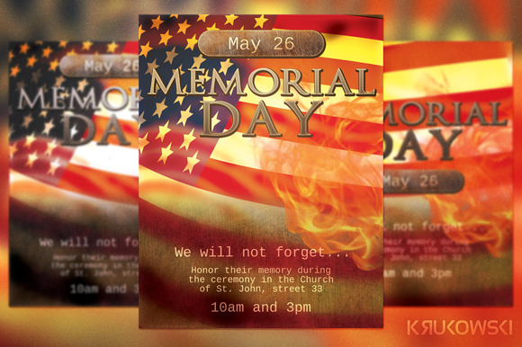 Memorial Day Church Flyer