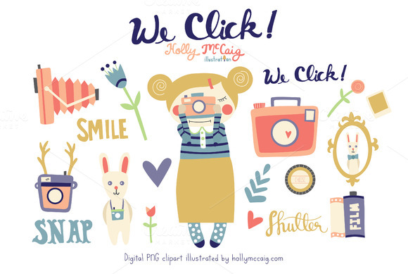 We Click Camera PNG Digital Clipart