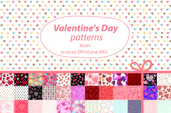 36 Valentine S Day Seamles Patterns