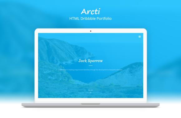 Arcti HTML Dribbble Portfolio