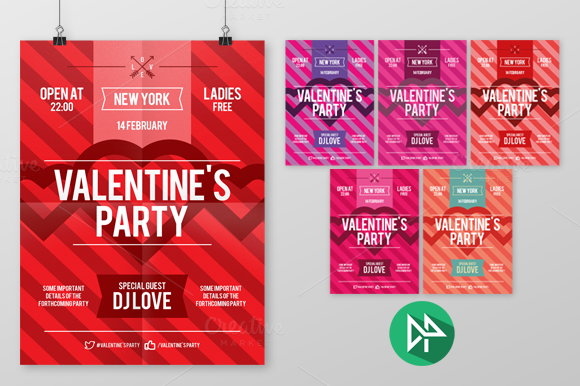 Valentine S Day Party Poster Templa