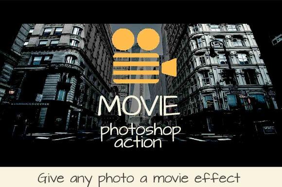 Movie Photoshop Action