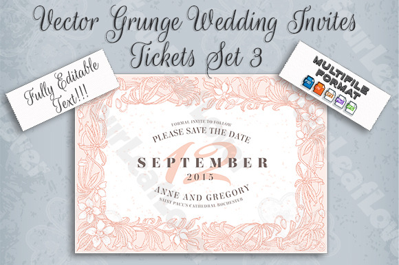 Vector Wedding Invites And STD