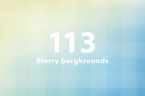 113 Blurry Background Bundle