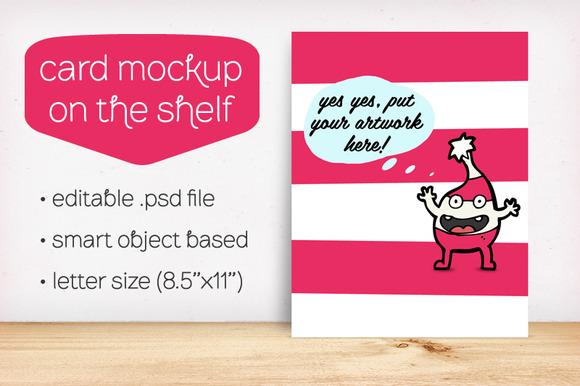 Card Mockup On The Shelf