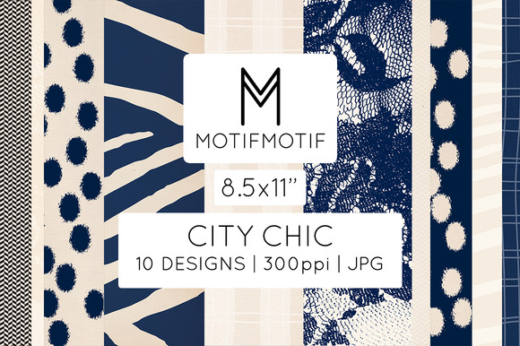 City Chic In Navy Cream US Letter