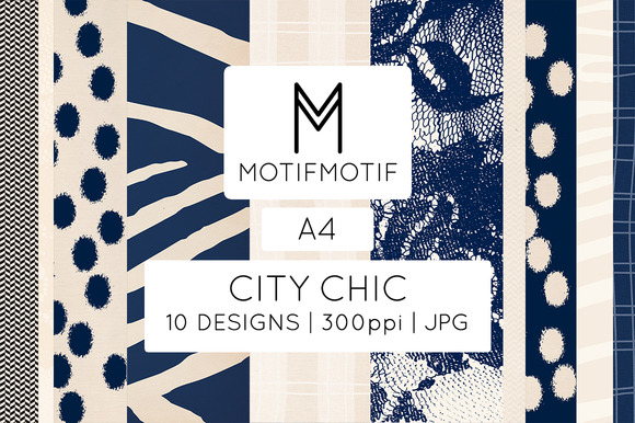 City Chic In Navy Blue Cream A4
