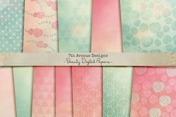 Beauty Digital Papers