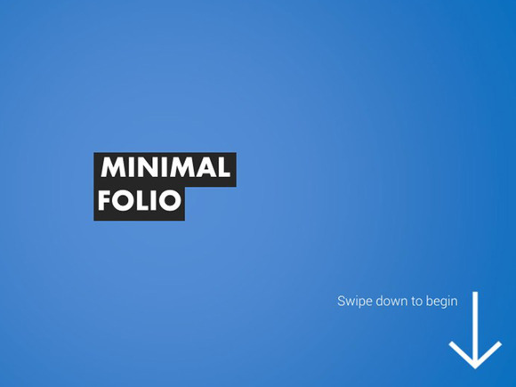 Minimal Folio Keynote Template