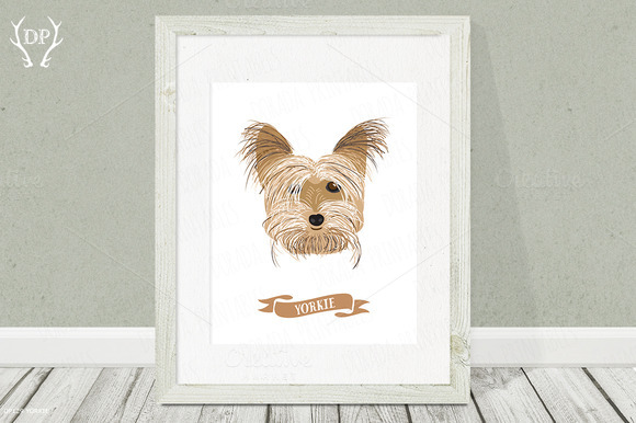 Yorkie Dog Breed Print Pet Wall Art