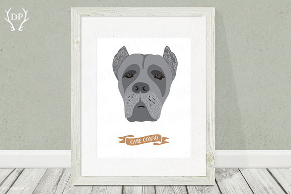 Cane Corso Dog Breeds Print Art
