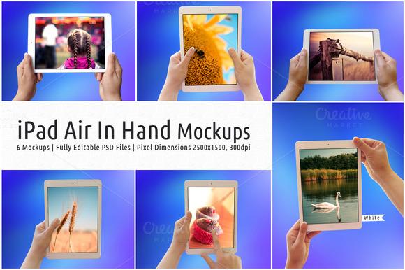 Air Tab In Hand Mockups