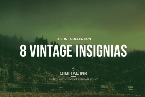 8 Vintage Insignias Collection NЎг1