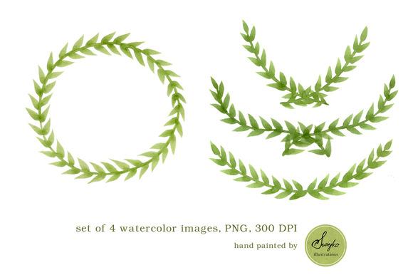 Watercolor Frames Clip Art Foliage