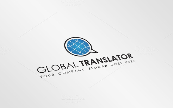 Global Translator Logo Template