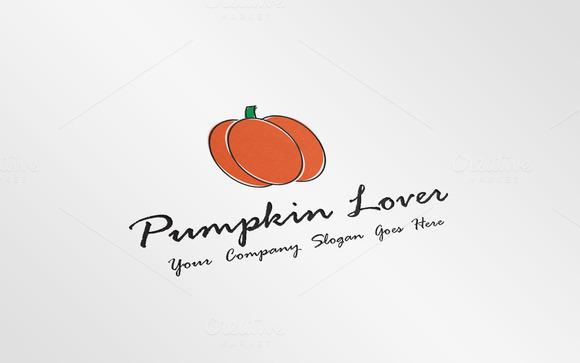 Halloween Pumpkin Logo Template