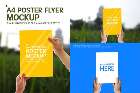 A4 Poster Flyer Mockups