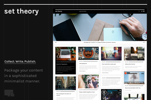 Set Theory Clean WP Blogging Theme