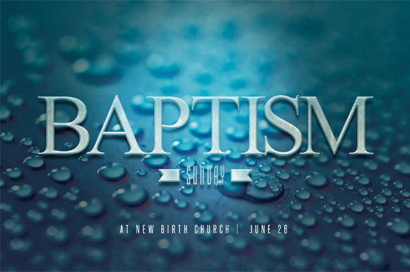 Baptism Sunday Church Flyer Invite