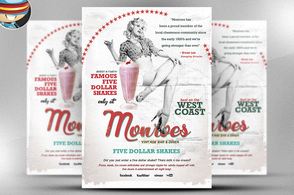 Monroes Flyer Template