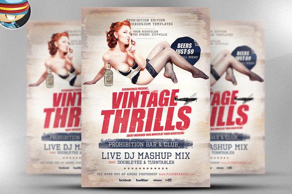 Vintage Thrills Flyer Template