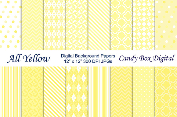 All Yellow Digital Background Papers