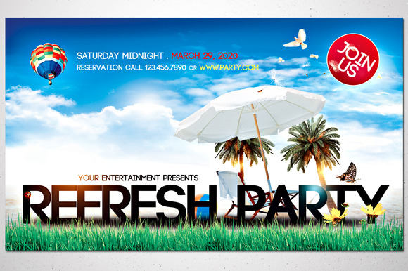 Refresh Party Front Back