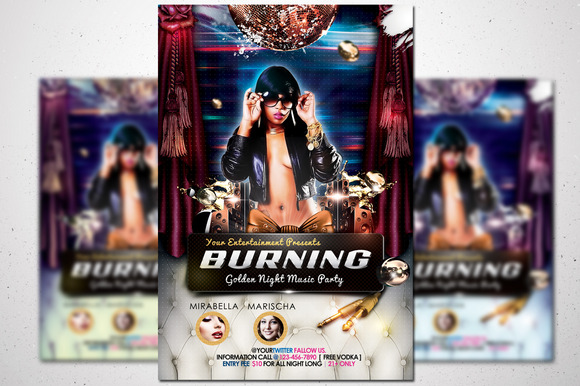 Burning Party Flyer
