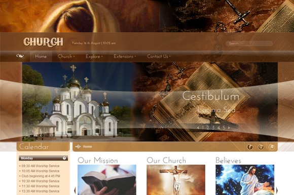 SJ Church Religious Joomla Template
