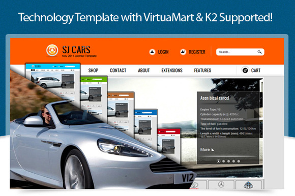 SJ Cars With VirtueMart Supported