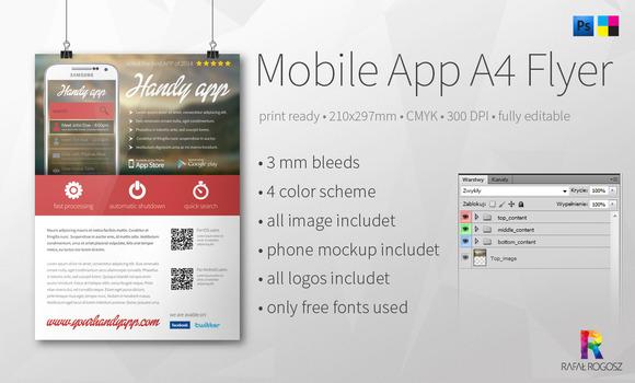 Mobile App A4 Flyer