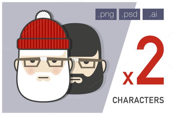 Man Beard Characters