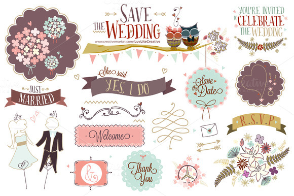 Save The Wedding ~ Hand-drawn Vector