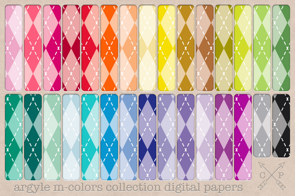 Argyle Digital Papers Backgrounds