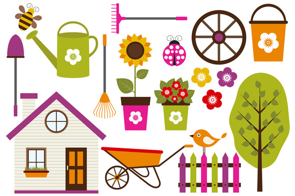 Digital Garden Clip Art