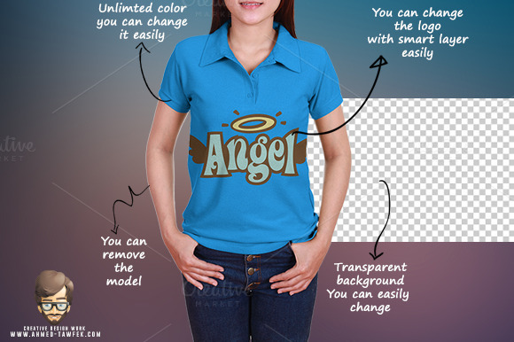 Women Polo Shirt Mock-ups