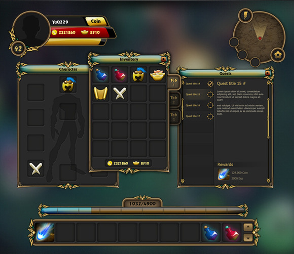 Fantasy Game Gui Pack 02
