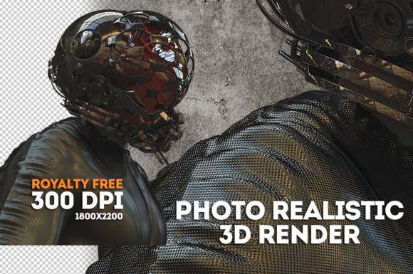 3D Photo Realistic Space Man