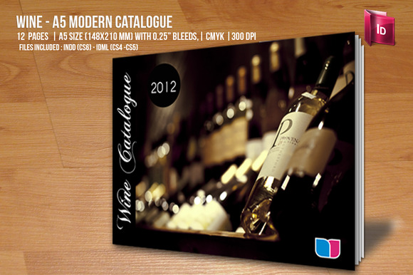 Wine A5 Modern Catalogue