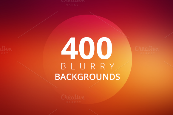 400 Blurry Backgrounds