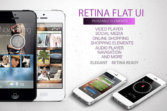 Retina Flat UI