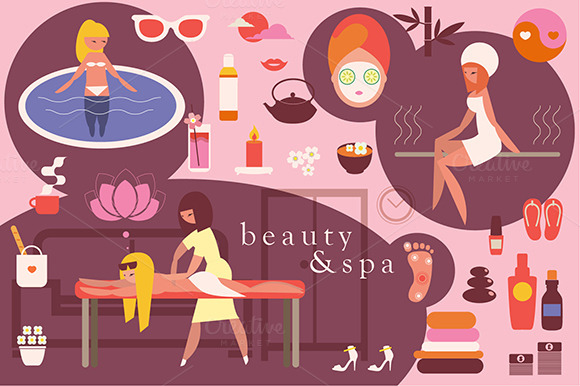 Beauty Spa Illustrations