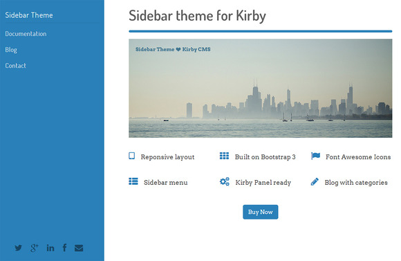 Sidebar Theme For Kirby CMS