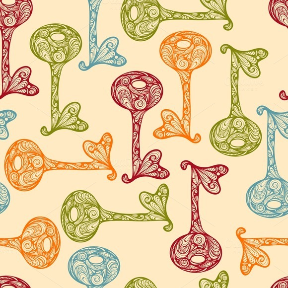 Vector Seamless Pattern With Bright