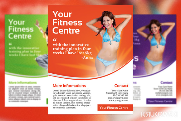 fitness brochure templates - fitness flyer border designtube creative design content