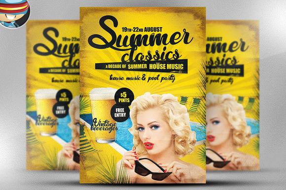 Summer Classics Flyer Template