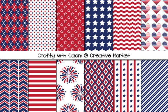 Patriotic Theme Digital Paper