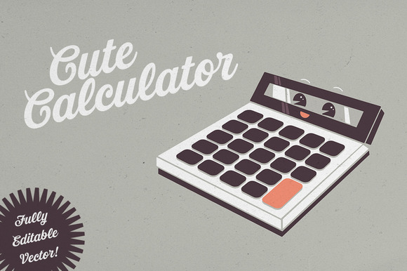 Cute Calculator Illustration