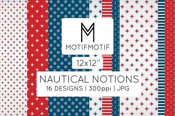 Nautical Notions Patriotic 12x12